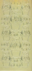 Pearlsticker 1821 Pasen Paaskuikens