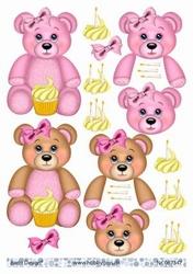 A4 Knipvel Barto Design 67347 Beertje baby roze