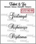 Crealies Clearstamp Tekst&Zo CLTZSG03 Speciale Gelegenheden