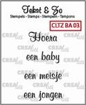 Crealies Clearstamp Tekst&Zo CLTZBA03 Baby