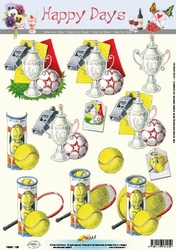 A4 Knipvel Happy Days 11-053-125 Sport voetbal/tennis