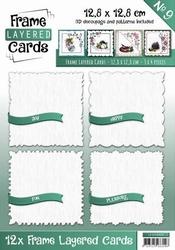 Linnen Layered Frame Cards LC4K10009/- 4kant