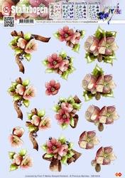 3D Pushout Precious Marieke SB10018 Kerst bloem