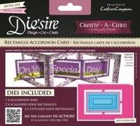 Diesire Create a Card DS-CADA-RECT Rectangle Accordion Card