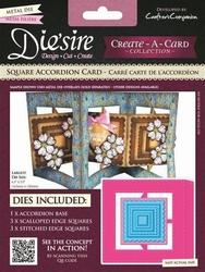 Diesire Create a Card DS-CADA-SQU Square Accordion Card