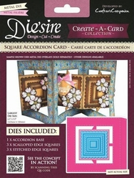 Diesire Create a Card DS-CADA-SQU Square Accordion Card