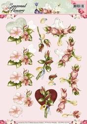 3D Knipvel Precious Marieke CD10800/HJ Seasonal Flowers