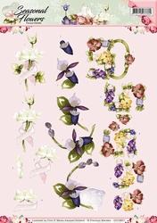 3D Knipvel Precious Marieke CD10801 Seasonal Flowers