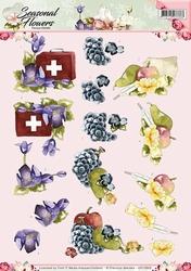 3D Knipvel Precious Marieke CD10802 Seasonal Flowers