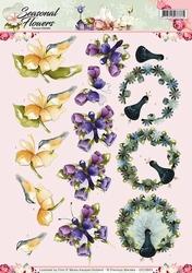 3D Knipvel Precious Marieke CD10803 Seasonal Flowers