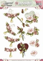 3D Stansvel Precious Marieke SB10134 Seasonal Flowers