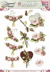 3D Stansvel Precious Marieke SB10134 Seasonal Flowers