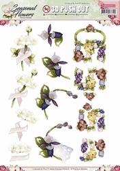 3D Stansvel Precious Marieke SB10135 Seasonal Flowers