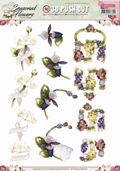 3D Stansvel Precious Marieke SB10135 Seasonal Flowers