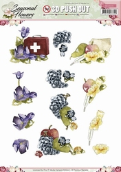 3D Stansvel Precious Marieke SB10136 Seasonal Flowers