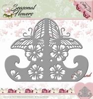 Precious Marieke's Die Seasonal Flowers PM10083 Card Stand