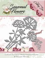 Precious Marieke's Die Seasonal Flowers PM10089 Bouquet