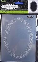 Darice embossing folder 1218-105 Oblong doily/ovale kader