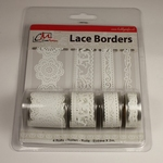 Lace Borders 2299 Love White