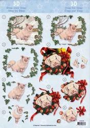 A4 Knipvel Avec 4008052 Nieuwjaars varken