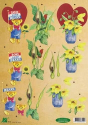 A4 Knipvel Klaver-vier 4114 Beer/bloemen