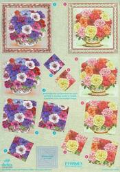 Dufex A4 Knipvel Metallic Pyramide 735 Boeket bloemen