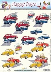 A4 Knipvel Happy Days 11-053-148 Citroën/kevertje/eendje