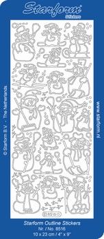 Stickervel Starform 8516 Sneeuwmannen
