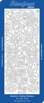 Sticker Dieren Starform 1179 Doodle vlinders
