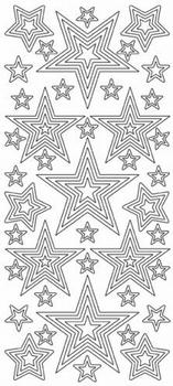Kerststicker Jeje 393 Sterren