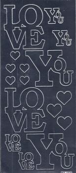 Sticker Kars Engelse tekst Spiegel KARS01 Love You