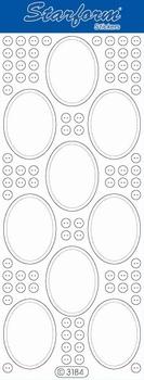 Stickervel Starform Transparant 3184 Kaders ovaal