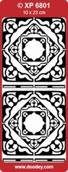 Sticker Doodey transparant XP6801 Hoekjes Frances