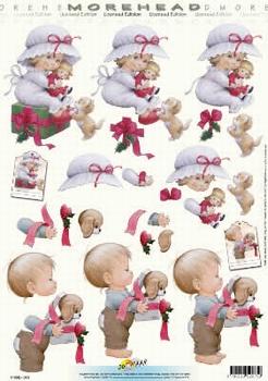 Morehead A4 Kerst Knipvel 075 Kinderen met pakjes