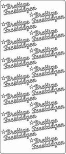 Kerst stickervel Peel-off 1602 Prettig feestdagen