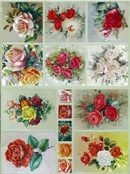 Dufex Metallic Stickervel 30 Bloemen