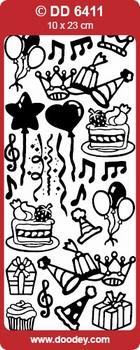 Doodey stickervel DD6411 Verjaardag