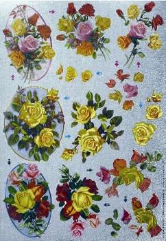Dufex A4 Knipvel Metallic 8541 Gele rozen