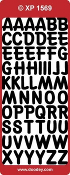 Doodey stickervel Transparant XP1569 Alfabet