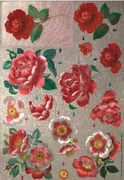Dufex A4 Knipvel Metallic 0610 Rode rozen