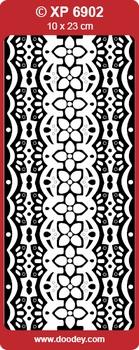 Doodey stickervel Transparant XP6902 Arabische randen