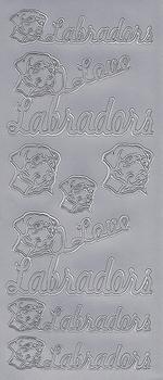 Stickervel 0001 Hond/Labradors