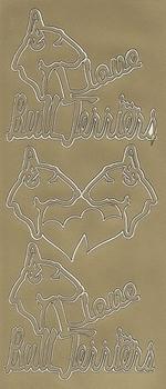 Stickervel 0002 Hond/Bull terriërs