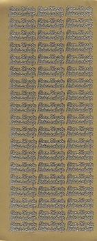 Tekststicker Peel-off 0005 Van harte beterschap