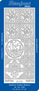 Stickervel Starform 1028 Hollands/zeilboot/vogels/tegels