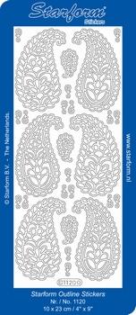 Stickervel Starform 1120 Ornament paisley