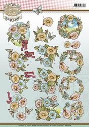 3D Knipvel Yvonne Creations CD10816 Spring-tastic Flowers