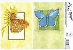 Deco Draw Borduurkaart DD015 Vlinders