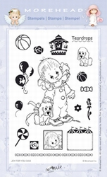 Clear stamps Morehaed Joy for you 97-0404 Teardrops