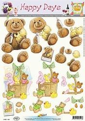 A4 Knipvel Happy Days 11-053-103 Geboorte/baby/beer